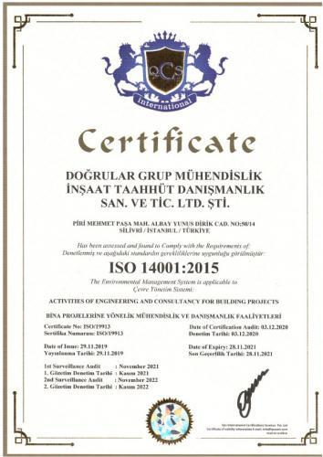 DOĞRULAR  ISO 14001
